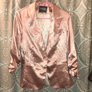 Shiny Blazer in Pale Pink